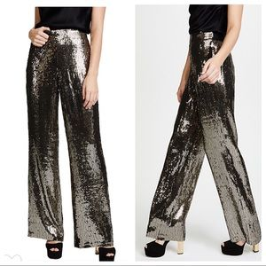 Alice + Olivia Racquel High-Waist Wide-Leg Pants 2